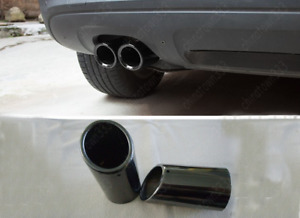 2xtitanium Black Muffler Exhaust Tail Pipe Tip For Bmw E90 E92 325 3series 06 10