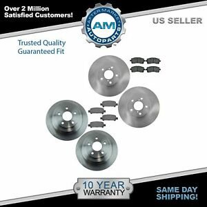 Front Rear Ceramic Brake Pad Rotor Kit Sides For Legacy Outback