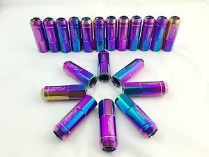 20pcs Neo Chrome Heavy Duty 12x1 5 Stainless Steel Extended Lug Nuts Thread