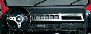 New Rampage Stainless Dash Overlay For 1987 95 Jeep Yj Wrangler