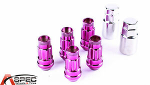 New Varrstoen Vt48 12x1 5 Purple Lug Locks 5 Pc 2keys Fits S2000 Rsx Tsx M45