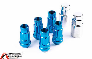 New Varrstoen Vt48 12x1 25 Blue Lug Locks 5 Pc 2keys Fits S2000 Rsx Tsx M45