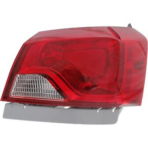 Halogen Tail Light For 2014 2018 Chevy Impala Right Outer Clear Red Lens W Bulbs