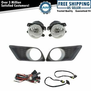 Add On Upgrade Clear Lens Fog Light Bulb Switch Wiring Kit Set For Charger New
