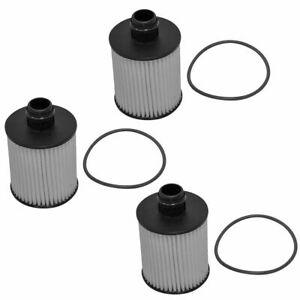 Acdelco 19301505 Engine Oil Filter Cartridge Set Of 3 For Chevy Cruze 2 0 Diesel