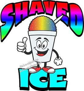 Shaved Ice Vinyl Decal 14 Shave Concession Ice Cream Food Truck Cart