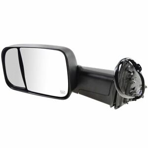 Mirror Power Folding Heated Memory Turn Signal Puddle Textured Black Lh For Ram