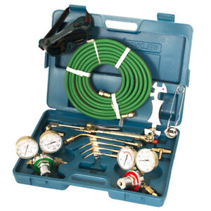 Oxygen Acetylene Welding Cutting Kit Victor Type Torch Brazing Soldering Oxy Kit