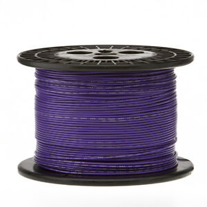 22 Awg Gauge Solid Hook Up Wire Violet 1000 Ft 0 0253 Ul1007 300 Volts