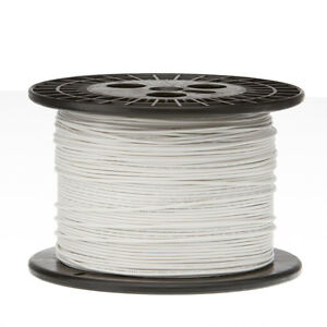 22 Awg Gauge Solid Hook Up Wire White 1000 Ft 0 0253 Ul1007 300 Volts