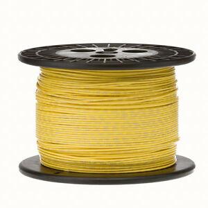 22 Awg Gauge Solid Hook Up Wire Yellow 1000 Ft 0 0253 Ul1007 300 Volts