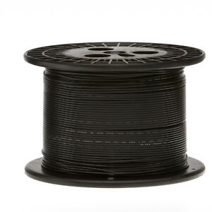 24 Awg Gauge Solid Hook Up Wire Black 1000 Ft 0 0201 Ul1007 300 Volts