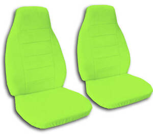 2 Cool Lime Green Car Seat Covers Highquality Very Soft