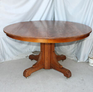 Antique Mission Oak Dining Round Table Gustav Stickley Arts Crafts
