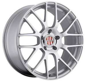 18x10 Victor Equipment Innsbruck 5x130 Rims 50 Silver Wheels Set Of 4