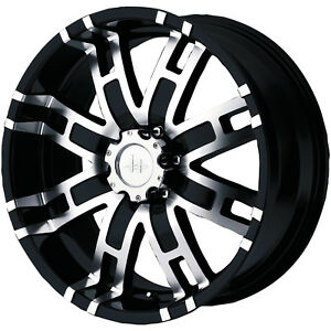 20 Inch Black Wheels Rims Helo 835 Dodge Ram 1500 1994 2014 Trucks 5 Lug 5x5 5