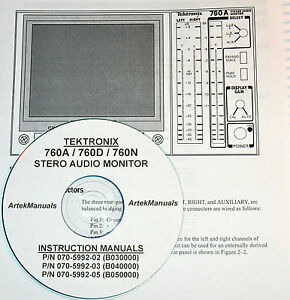 Tektronix Operating Service Manual For 760a 760d 760n Stereo Audio Monitor