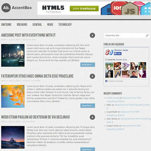 Wordpress accentbox Website News Magazine Theme Business free Hosting
