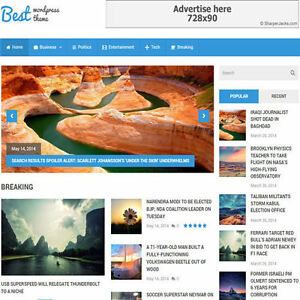 Wordpress best Website News Magazine Theme Business For Sale free Hosting