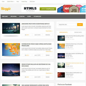 Wordpress bloggie Website News Magazine Theme Business free Hosting