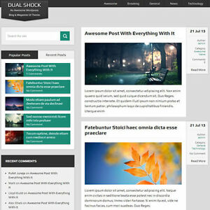 Wordpress dualshock Website News Magazine Theme Business free Hosting