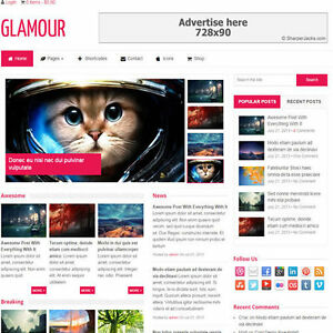Wordpress glamour Website Ecommerce Magazine Theme For Sale free Hosting