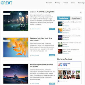 Wordpress great Website News Magazine Theme Business free Hosting