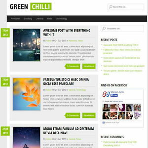 Wordpress greenchilli Website News Magazine Theme Business free Hosting