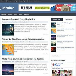 Wordpress justblue Website News Magazine Theme Business free Hosting