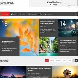 Wordpress newstimes Website News Magazine Theme Business free Hosting