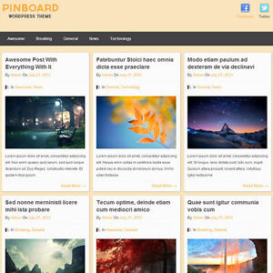 Wordpress pinboard Website News Magazine Theme Business free Hosting