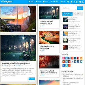 Wordpress pinstagram Website News Magazine Theme Business free Hosting