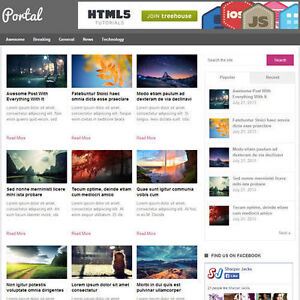 Wordpress portal Website News Magazine Theme Business free Hosting