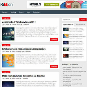 Wordpress ribbon Website News Magazine Theme Business free Hosting