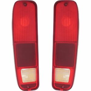 Set Of 2 Tail Light For 75 79 Ford F 150 Custom Lh Rh Clear Red Lens