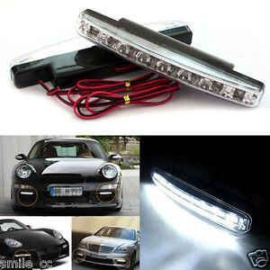 8led Daytime Driving Running Light Drl Car Fog Lamp Waterproof Dc 12v Wholesale