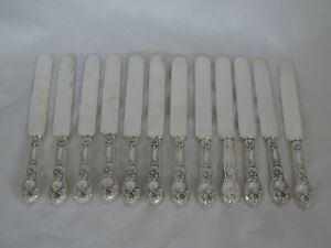 Set Of 12 Unger Bros Sterling Jonquil Dinner Knives
