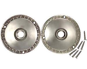 3 Inch Egg Dart Retrofit Rosettes For Old Knobs In Any Doors Brushed Nickel