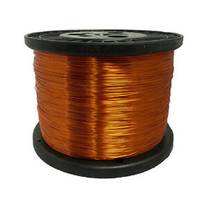 26 Awg Gauge Enameled Copper Magnet Wire 5 0 Lbs 6271 Length 0 0176 200c Nat
