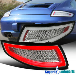 Porsche 2005 2008 911 997 Carrera Targa Gt2 Gt3 Turbo Clear Lens Led Tail Lamps
