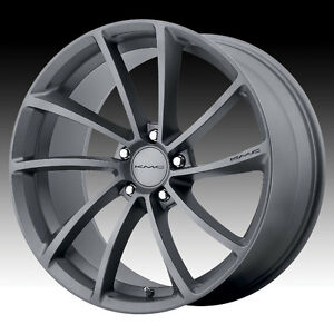 20 Staggered Kmc Spin Gray Gunmetal Wheels Rims 5x4 5 Ford Mustang Gt Lexus