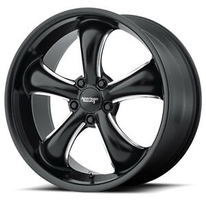 20 Staggered American Racing Ar912 Black Wheels Rims 5x4 5 Ford Mustang Gt