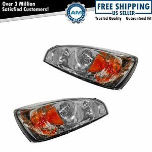 Headlights Headlamps Left Right Pair Set For 04 08 Chevy Malibu