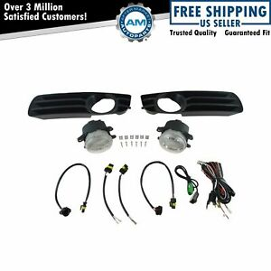 Add On Upgrade Clear Lens Fog Light Bulb Switch Wiring Kit Set For 300 New