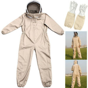 Beekeeping Bee Keeping Suit Jacket Smock Gloves Veil Hat Full Body Protective