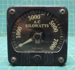 General Electric Meter 1400013 Model 8ab 12kac1 Type Ab 12 0 7000 A c Kilowatts
