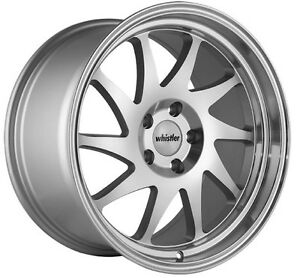 Whistler Kr7 18x9 5 5x114 3mm 35 Silver Wheels Fits Civic Veloster Eclipse Tsx