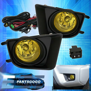For 2012 15 Toyota Tacoma Amber Fog Driving Light Pair Lh Rh Replacement Upgrade
