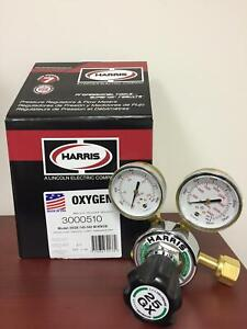 Harris Single Stage Oxygen Regulator W knob 3000510 25gx 145 540