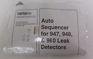 Varian Vacuum Products L5820301 Auto Sequencer For 947 948 960 Leak Detectors